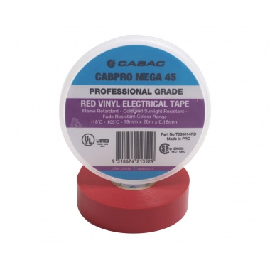 Cabac Cabpro Mega 45 Vinyl Electrical Tape Red T030014RD