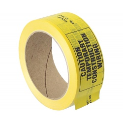 Cabac Construction Warning Tape Yellow CCW38